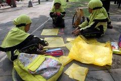 Making kites Royalty Free Stock Photos