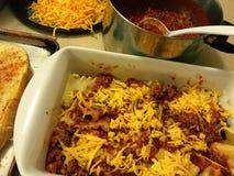 Making lasagna Stock Photography