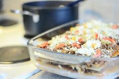 Making lasagna Stock Photo
