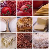 Lasagne Recipe Ingredients Royalty Free Stock Images