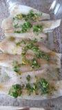 Making Lemon Cilantro Flounder Royalty Free Stock Images