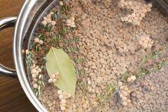 Making Lentil Soup Royalty Free Stock Images