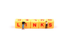 Making links. Concept image of links on white background stock image