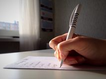Making a list Royalty Free Stock Image