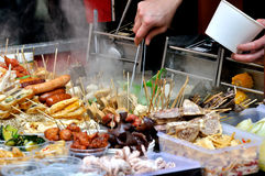 Making local snack noodle in China Royalty Free Stock Images