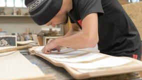 Making of Longboard Deck Royalty Free Stock Image