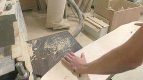 Making of Longboard Deck stock video footage