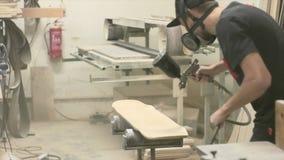 Making of Longboard Deck stock footage