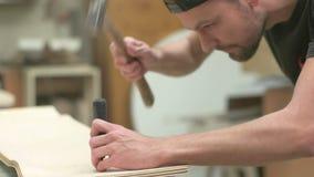 Making of Longboard Deck stock video