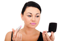 Making make-up Stock Photo