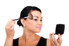 Making make-up Royalty Free Stock Images