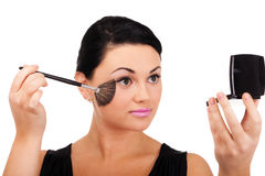 Making make-up Royalty Free Stock Photography