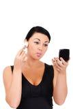 Making make-up Royalty Free Stock Photo