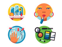 Making make-up icons Stock Photos