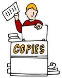 Making Making Copies. An image of a man making copies Stock Image