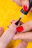 Making a manicure Royalty Free Stock Photos