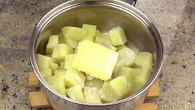 Making Mashed Potato 3 stock video
