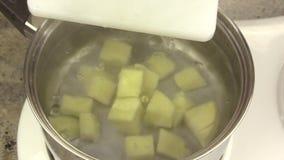 Making Mashed Potato 1 stock video footage