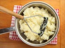 Making Mashed Potato Stock Photography