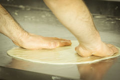 Making Meat Pie from Yeast Dough. Royalty Free Stock Photography