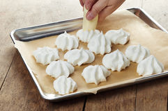 Making meringue cookies Royalty Free Stock Photography