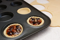 Making mince pies Royalty Free Stock Photo