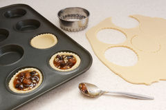 Making mince pies Stock Photography