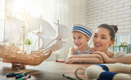 Making model ship Royalty Free Stock Images