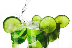 Making mojito cocktails Stock Photography