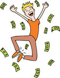 Making money. Man happy he is making money Royalty Free Stock Photos