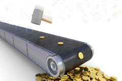 Making money from air concept. Hi-res 3d rendering Royalty Free Stock Images