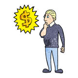 Making money cartoon Royalty Free Stock Images