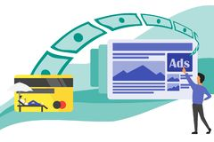 Making Money Everywhere from Advertisements vector illustration
