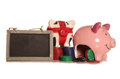 Making money gambling piggybank. Cutout Royalty Free Stock Photography