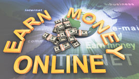Making money online Stock Photos