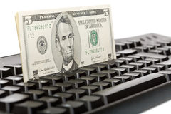 Making money online Royalty Free Stock Images
