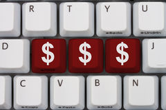 Making Money online stock image