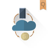 Making Money and Profit From Cloud Databases Stock Image