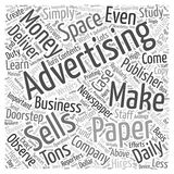 Making Money from Selling Advertising Space wordcloud concept Stock Photography