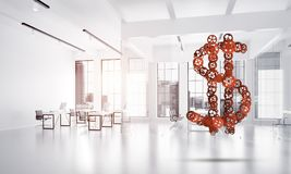Connections and networking concepts as means of money earning on white office background Stock Photo