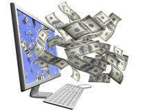 Making money with your computer Stock Images