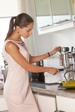 Making morning coffee Royalty Free Stock Images