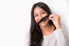 Making moustaches Stock Photos