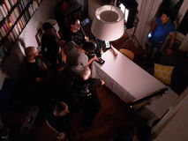 making movie Στοκ φωτογραφίες με δικαίωμα ελεύθερης χρήσης