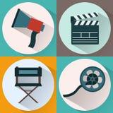 Making Movie icon set Stock Images