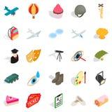 Making movie icons set, isometric style. Making movie icons set. Isometric set of 25 making movie vector icons for web isolated on white background Stock Image
