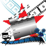 Making movies stock illustration
