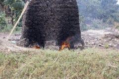 Making mud bricks, Uganda, Africa Royalty Free Stock Photos