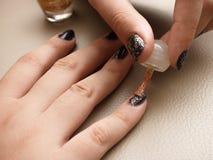 The Making of Nail Art Royalty Free Stock Image