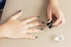 The Making of Nail Art Stock Photos